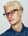Phoebe Small round acetate glasses in Chocolate Havana Fade by Ace & Tate