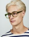 Russel rechteckig Acetat glasses in Pine by Ace & Tate