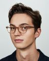 Ryan round acetate glasses in Golden Brown by Ace & Tate