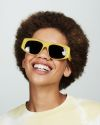 Billy round acetate glasses in Lemonade by Ace & Tate