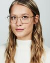 Sofia viereckig Metall glasses in Satin Gold by Ace & Tate