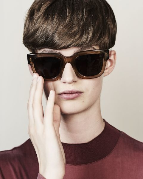 Allen rond acetaat glasses in Golden Brown by Ace & Tate