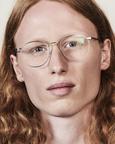Neil rond metaal glasses in Satin Silver by Ace & Tate