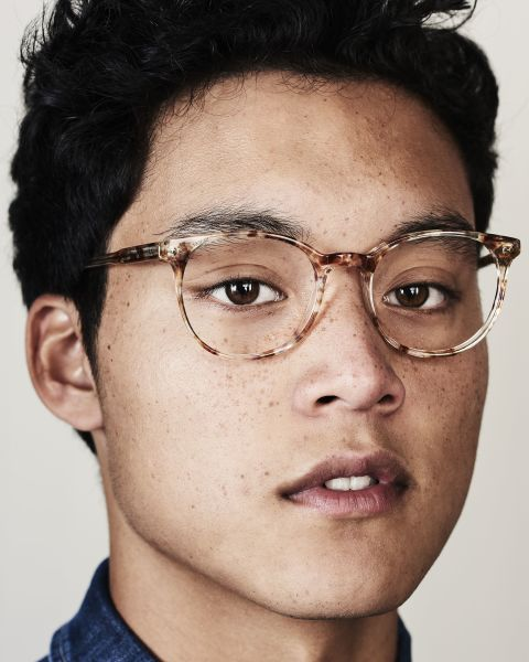 Wes rond acetaat glasses in Gold Dust by Ace & Tate