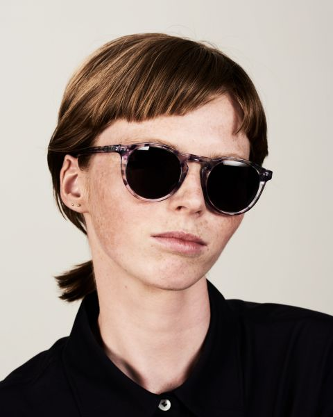 Benjamin round acetate glasses in Hummingbird by Ace & Tate