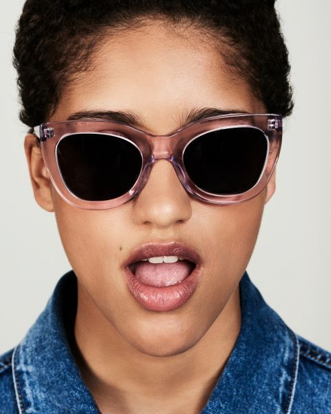 Katie round acetate glasses in Lilac by Ace & Tate