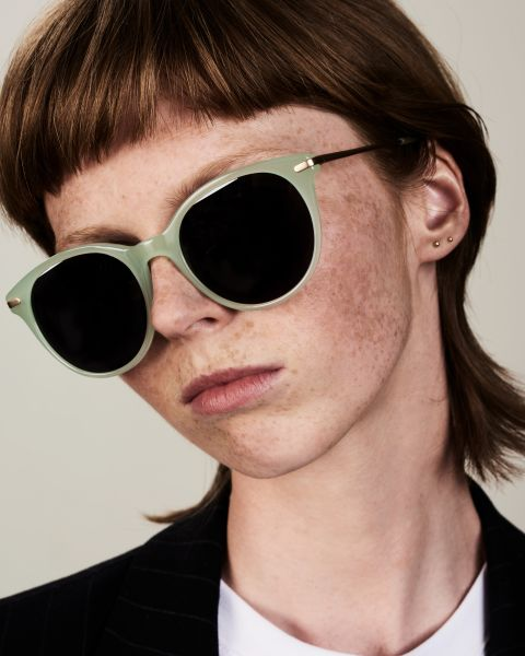 Liz rund Kombination glasses in Mint by Ace & Tate