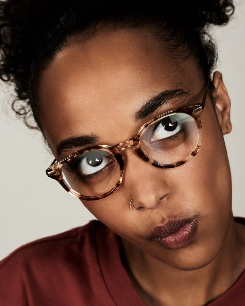 Max Metal Temple rund Verbund glasses in Gold Dust by Ace & Tate