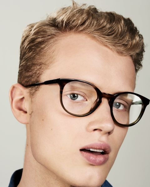Miles Large rund Acetat glasses in Hunter Green by Ace & Tate