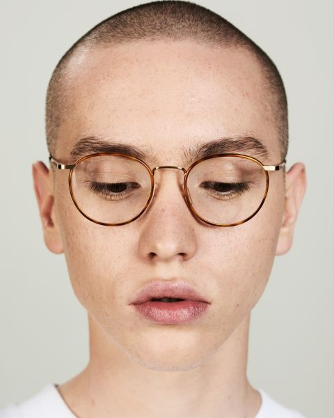 Neil rond metaal glasses in Desert Spice by Ace & Tate