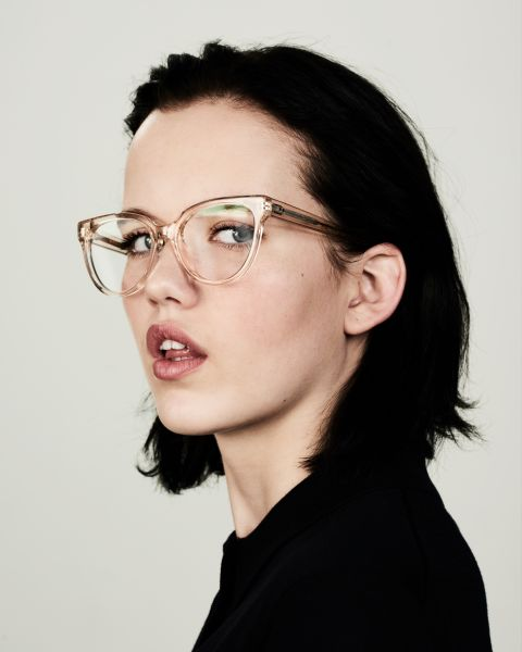 Phoebe round acetate glasses in Fizz by Ace & Tate