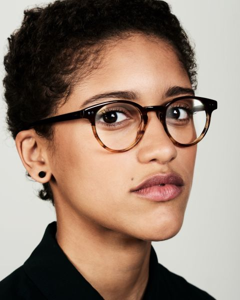 Pierce ronde acétate glasses in Chocolate Havana Fade by Ace & Tate