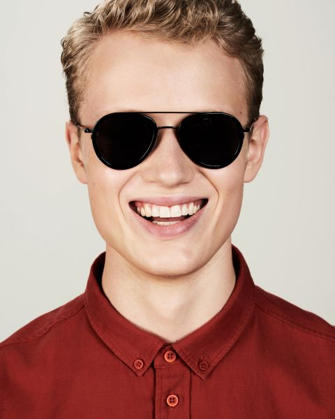 Quentin rund bio acetate glasses in Bio Black by Ace & Tate