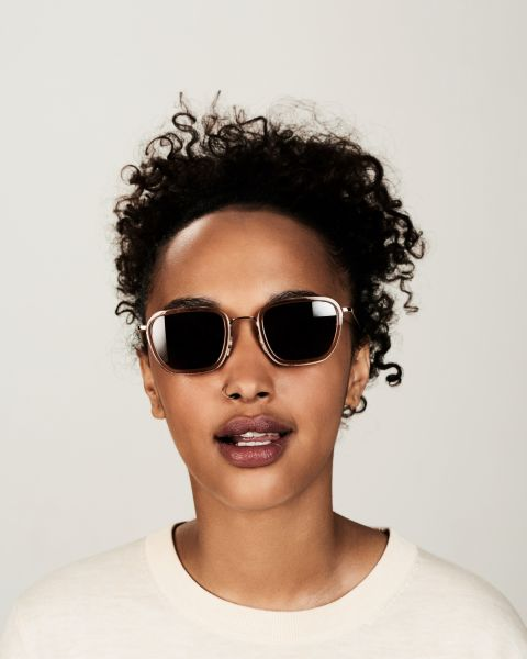 Ringo quadratisch Verbund glasses in Golden Brown by Ace & Tate