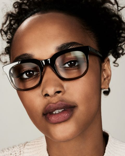 Teller Small rectangle acetate glasses in Olive Gradient by Ace & Tate