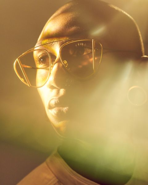 Lenny rondes métal glasses in Satin Gold by Ace & Tate
