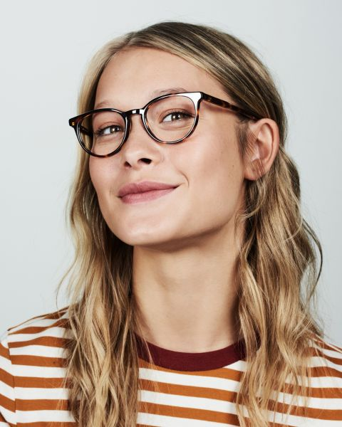 Damien rund Acetat glasses in Hazelnut Tortoise by Ace & Tate