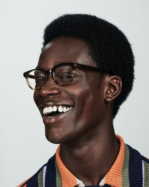 Finn rectangle acetate glasses in Chocolate Havana Fade by Ace & Tate