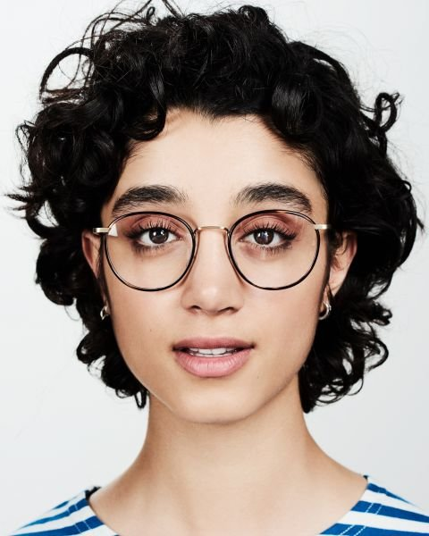 Neil Large round combi glasses in Hazelnut Tortoise by Ace & Tate