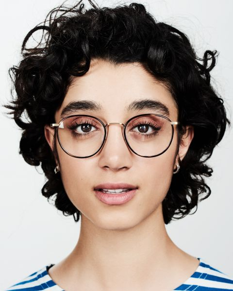 Neil Large round metal glasses in Hazelnut Tortoise by Ace & Tate