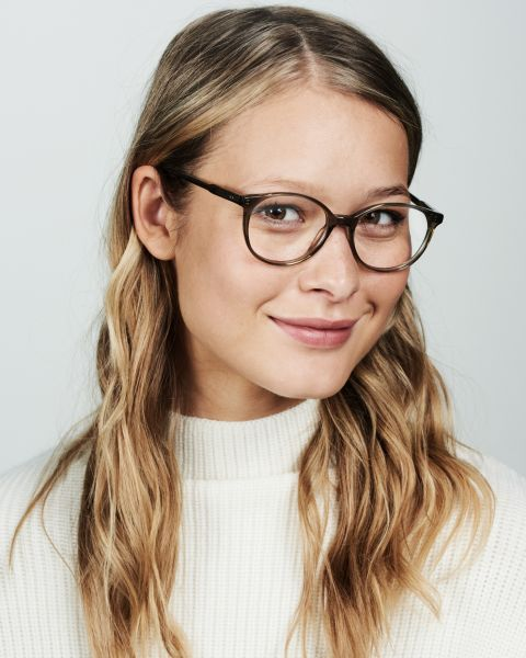 Nina rund Acetat glasses in Fern by Ace & Tate