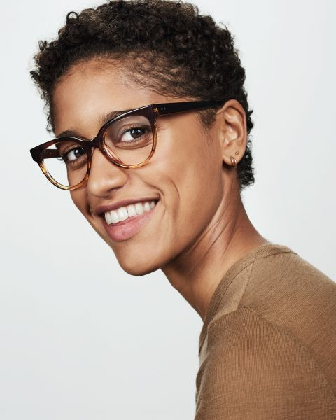 Phoebe Small rondes acétate glasses in Chocolate Havana Fade by Ace & Tate