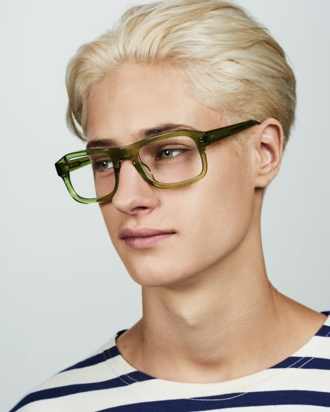 Russel rechthoek acetaat glasses in Pine by Ace & Tate