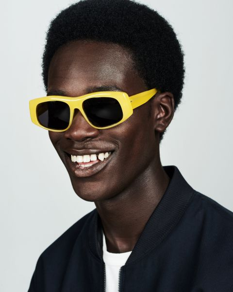 Billy ronde acétate glasses in Lemonade by Ace & Tate