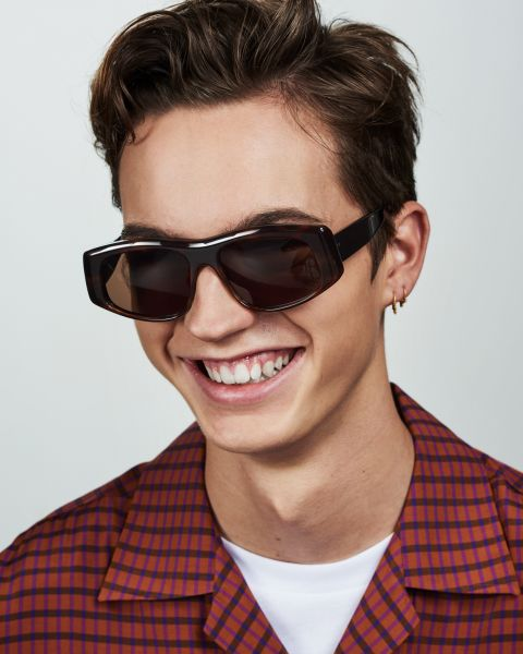 Billy round acetate glasses in Rosewood by Ace & Tate