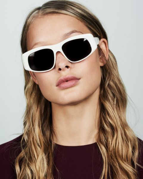 Billy rund Acetat glasses in White by Ace & Tate