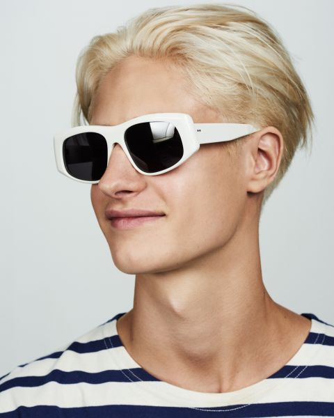 Billy round acetate glasses in White by Ace & Tate