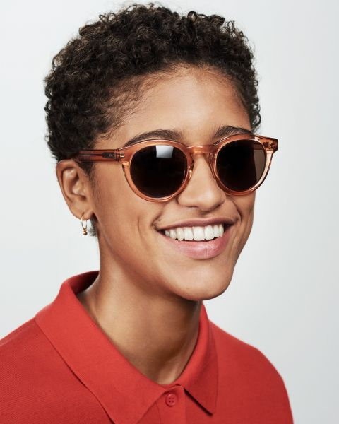 Byron square acetate glasses in Marmalade by Ace & Tate