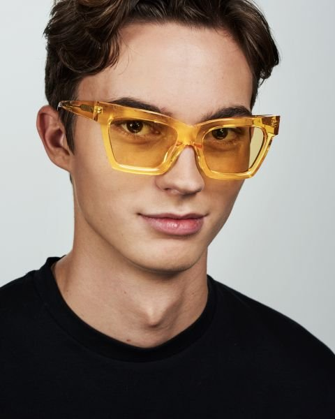 Grace rechteckig Acetat glasses in Marigold by Ace & Tate