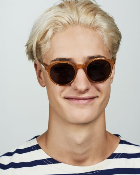 Monty round acetate glasses in Caramel by Ace & Tate
