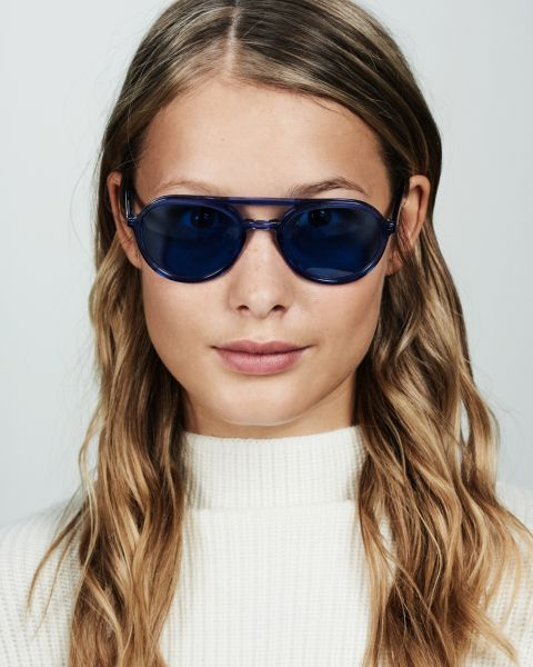 Paul rond acetaat glasses in Deep Blue by Ace & Tate