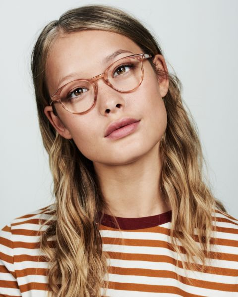 Pierce ronde acétate glasses in Sunset by Ace & Tate