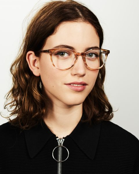 Miles Large round acetate glasses in Soft Breeze by Ace & Tate