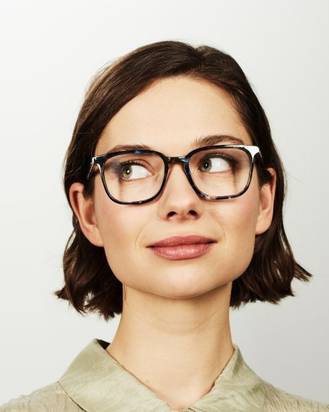 Nelson Small rectangle acetate glasses in Midnight by Ace & Tate