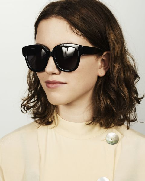 Harper square bio acetate glasses in Bio Black by Ace & Tate