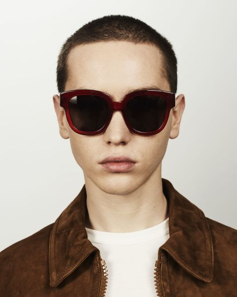 Harper square acetate glasses in Poppy by Ace & Tate