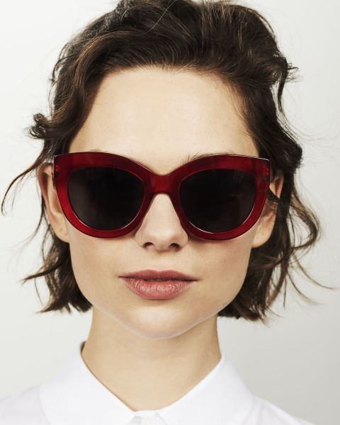 Vic rond acetaat glasses in Poppy by Ace & Tate