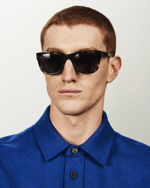 Clay rectangle acetate glasses in Sugar Man by Ace & Tate