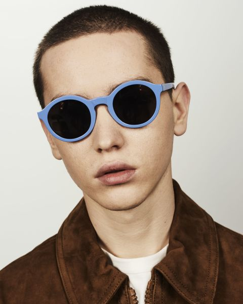 Colin round acetate glasses in Bluebell by Ace & Tate
