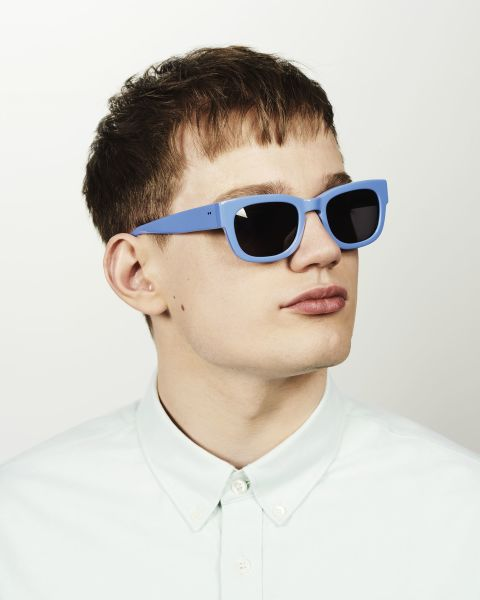Pete rechteckig Acetat glasses in Bluebell by Ace & Tate