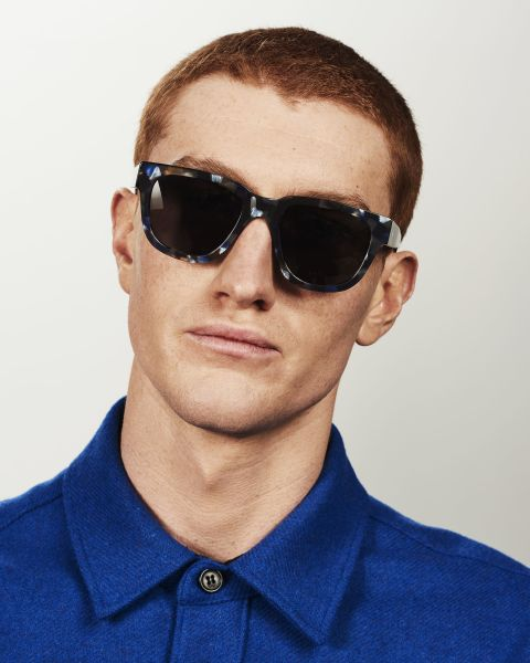 Harry round acetate glasses in Midnight by Ace & Tate