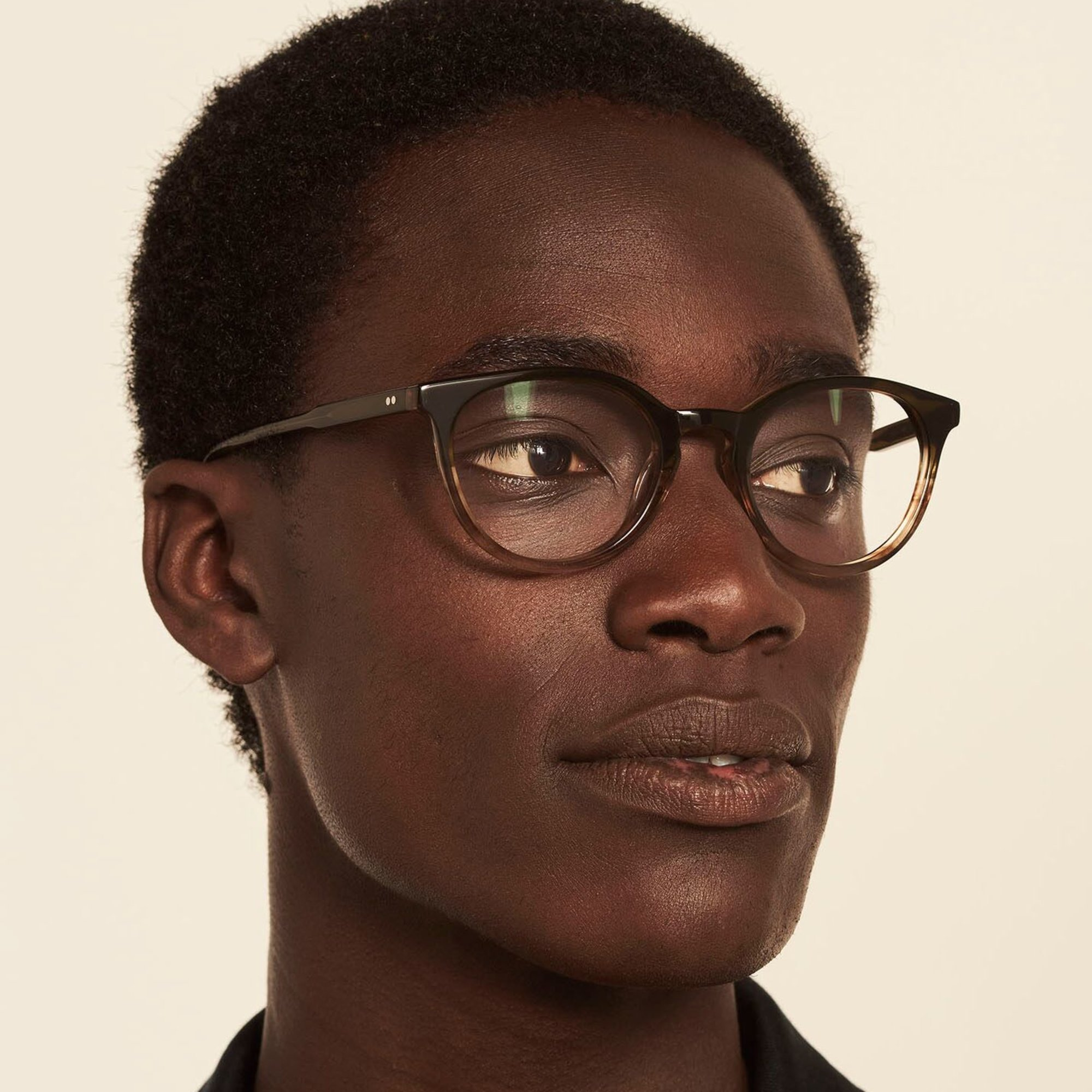Ace & Tate Glasses | round acetate in Green, Brown