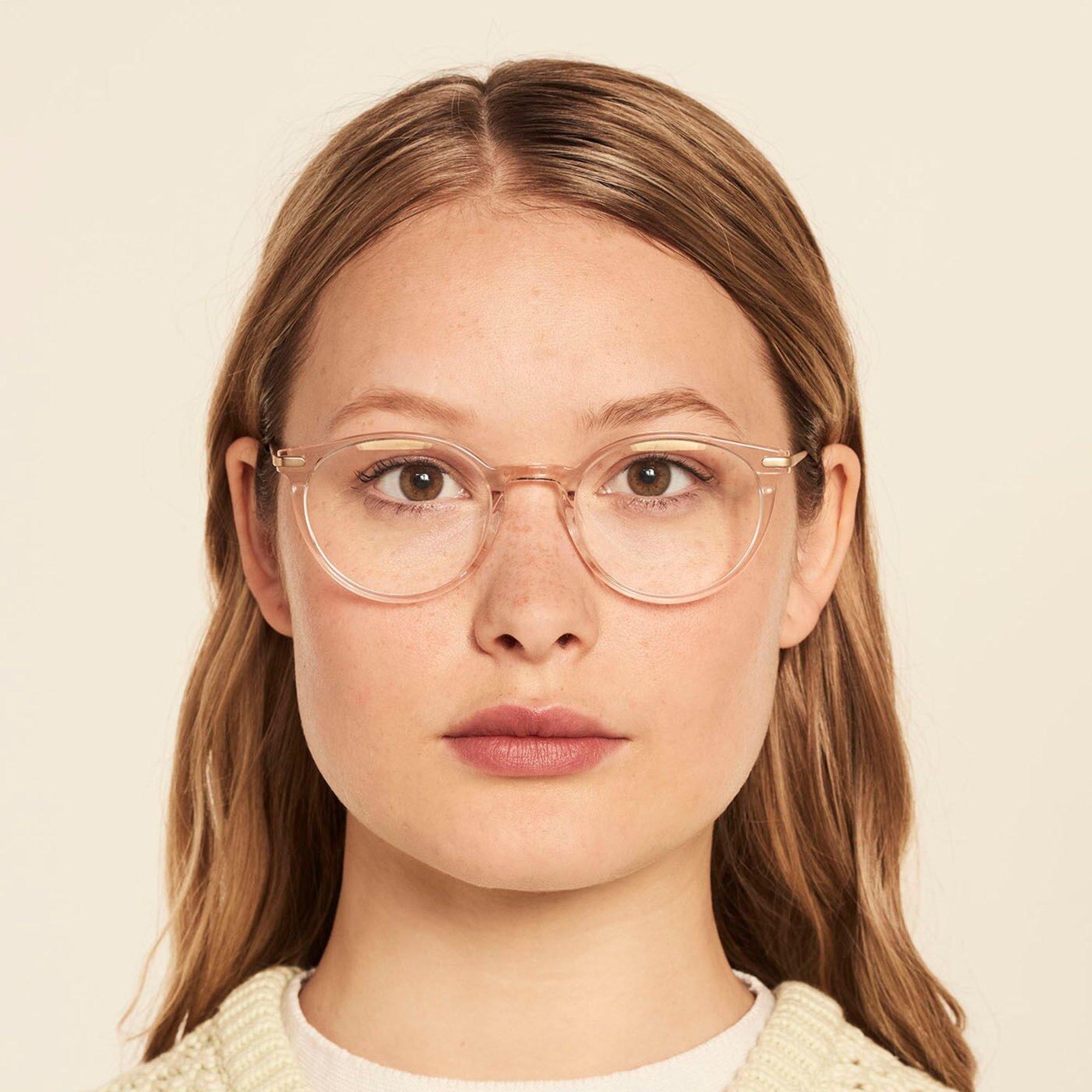 Ace & Tate Glasses | rund Acetat in Transparent