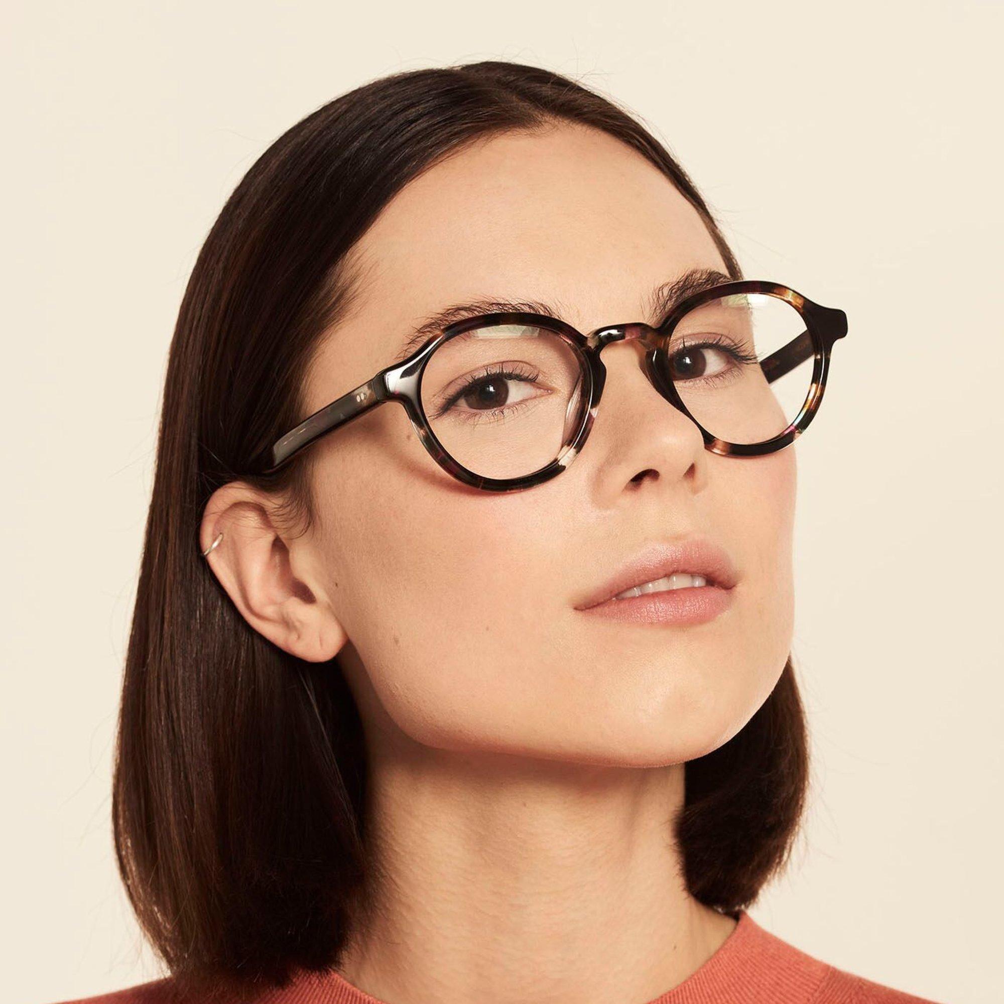 Ace & Tate Glasses | rund Acetat in Braun, Schwarz, Blau, Pink