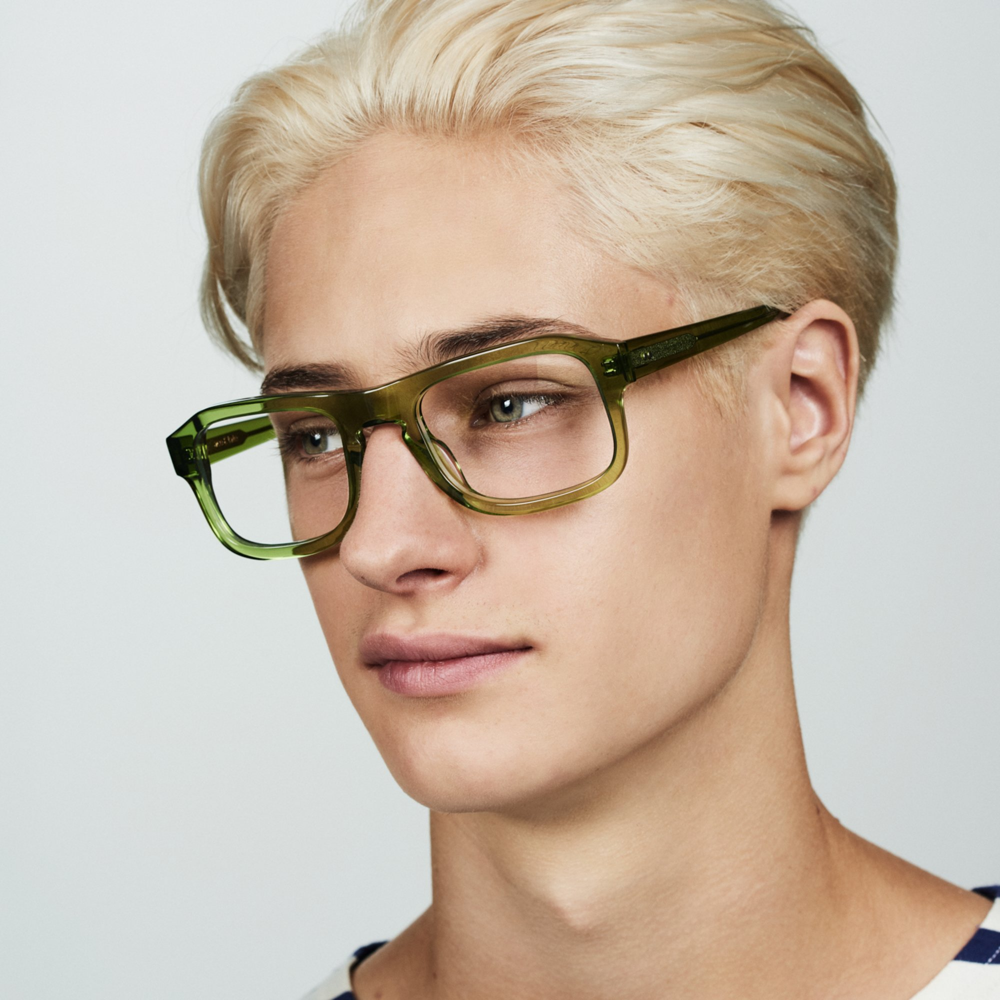 Ace & Tate Glasses   rectangle acetate in Green