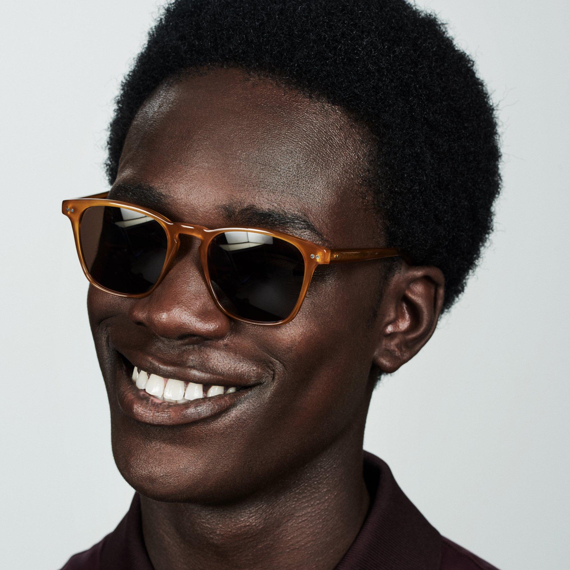 Ace & Tate Sunglasses   square acetate in Brown, Orange, Yellow